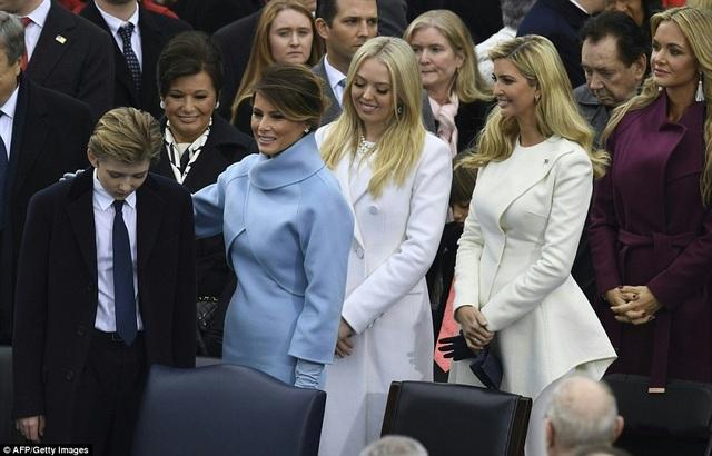 Barron là con út của ông Trump và bà Melania. (Ảnh: AFP)