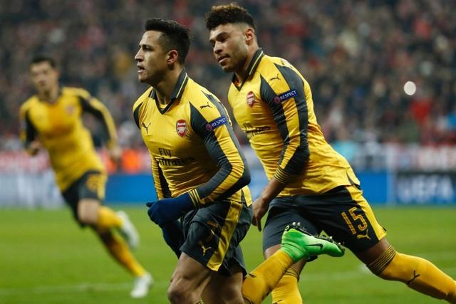 Niềm vui của Sanchez sau khi ghi bàn