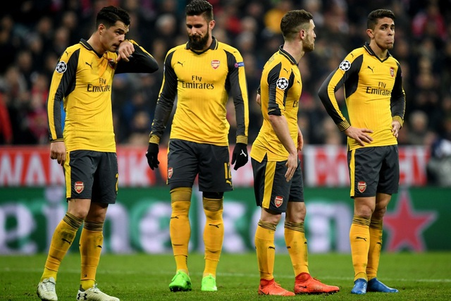 Nỗi buồn của các cầu thủ Arsenal sau trận đấu