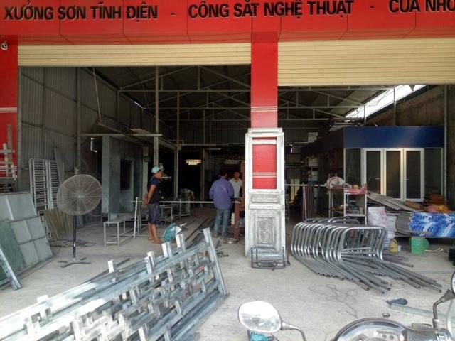 Xưởng cơ khí sản xuất khung bể của công ty TNHH Vina Hồng Dương