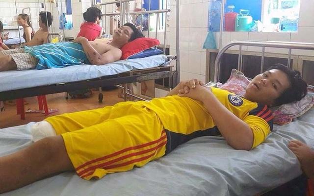 Giang đang nằm điều trị tại Bệnh viện đa khoa Đồng Tháp. Ảnh: Vietnamnet