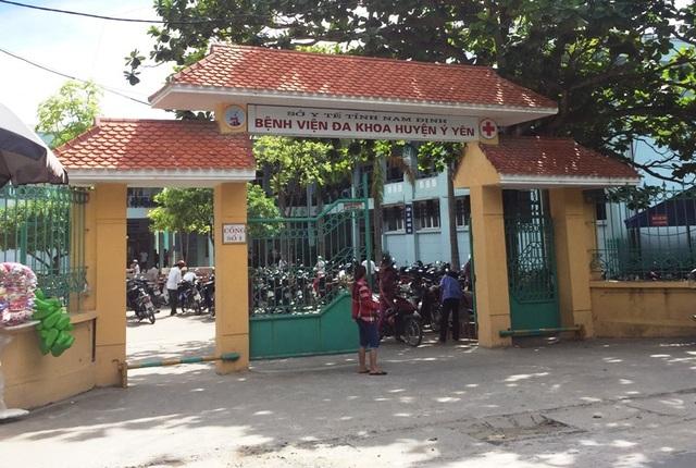 Bệnh viện Đa khoa huyện Ý Yên, tỉnh Nam Định, nơi sản phụ Phạm Thị Nhâm đến sinh