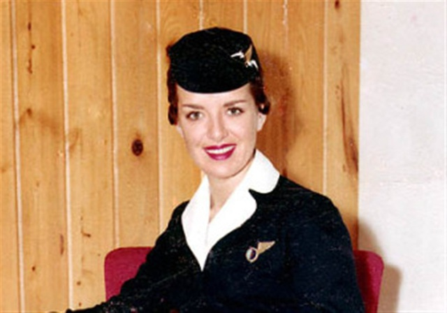 Chân dung nữ tiếp viên hàng không xinh đẹp Bette Nash thời trẻ