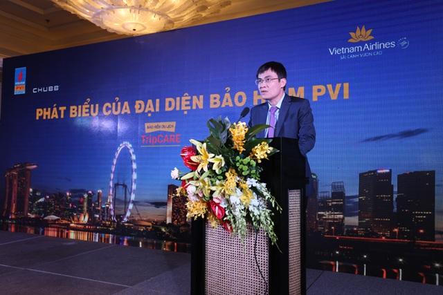Ông Trương Quốc Lâm, Tổng giám đốc Bảo hiểm PVI phát biểu tại Lễ ra mắt TripCARE