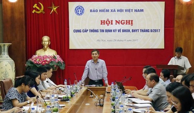 Buổi họp báo thông tin về BHXH, BHYT tháng 8/2017.