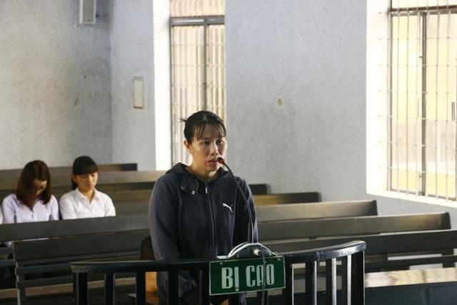 Bị cáo Nguyệt tại phiên tòa