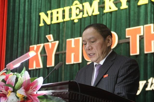 Bí thư Tỉnh ủy, Chủ tịch HĐND tỉnh - ông Nguyễn Văn Hùng phát biểu khai mạc kỳ họp