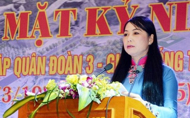 Bí thư Tỉnh uỷ Vĩnh Phúc Hoàng Thị Thuý Lan.