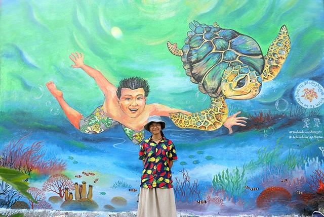 Bức bích họa mang tên Live together của họa sĩ trẻ Hải Yến