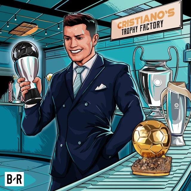 C.Ronaldo bổ sung thêm bộ sưu tập danh hiệu Cầu thủ xuất sắc nhất thế giới 2017