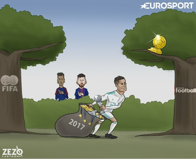 Năm 2017, C.Ronaldo tha hồ vơ vét danh hiệu