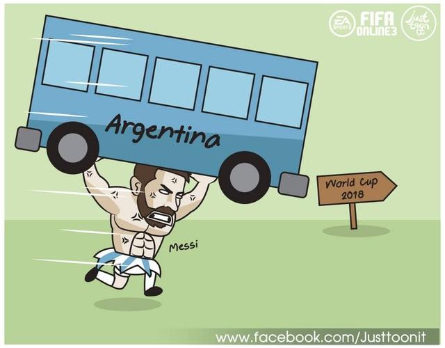 Một mình Messi vác Argentina tới World Cup 2018