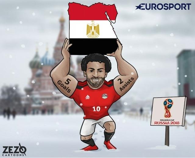 Salah là người hùng đưa Ai Cập tới World Cup 2018