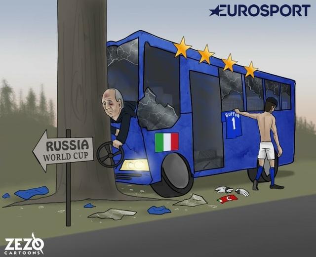 Italia tan nát trên đường tới Nga, Buffon dứt áo ra đi