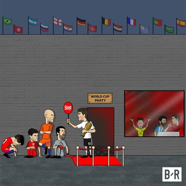Hàng loạt ông lớn lỡ hẹn với World Cup