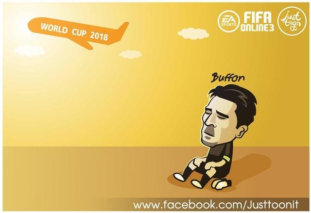 Buffon buồn thỉu buồn thiu vì lỡ hẹn với World Cup