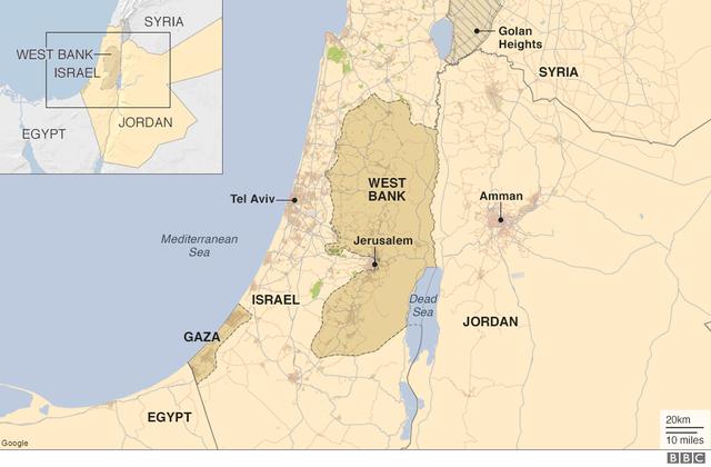 Biển Chết nằm giữa Israel, Jordan và Palestine. Dù được gọi là biển nhưng thực chất đây là một hồ có độ mặn cực cao. (Đồ họa: BBC)