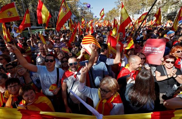 Cuộc biểu tình diễn ra sau khi nghị viện Catalonia thông qua nghị quyết tuyên bố thành lập nhà nước riêng, tách khỏi Tây Ban Nha ngày 27/10. Trước đó, một cuộc trưng cầu dân ý đã được tiến hành ở Catalonia và 90% người đi bỏ phiếu nhất trí tách vùng tự trị này khỏi Tây Ban Nha.
