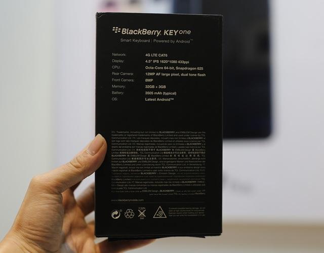 So với những dòng sản phẩm trước đó, Blackberry KeyOne được sản xuất bởi TCL, tập đoàn này đã mua lại thương hiệu Dâu Đen từ năm 2016. Ngay sau mặt lưng của hộp máy đều có thông tin do chính TCL sản xuất.