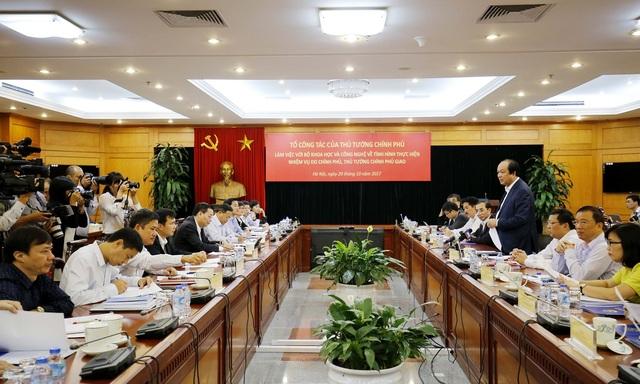 Cuộc kiểm tra tại Bộ KH-CN do Tổ trưởng tổ công tác của Thủ tướng chủ trì.