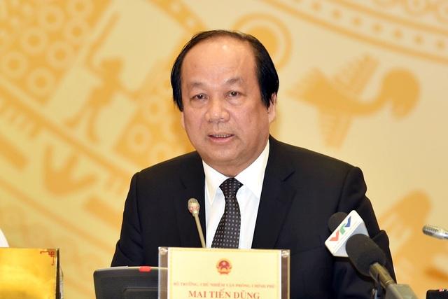 Bộ trưởng Chủ nhiệm VPCP Mai Tiến Dũng khẳng định, nếu chưa đảm bảo các điều kiện thì Formosa sẽ chưa được hoạt động trở lại (Ảnh: VGP)