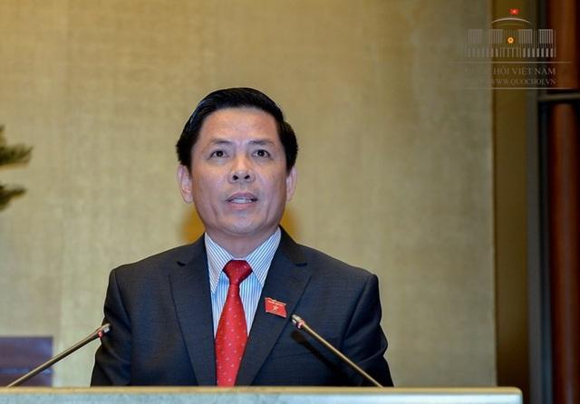 Bộ trưởng Bộ Giao thông vận tải Nguyễn Văn Thể (Ảnh: Quochoi.vn).