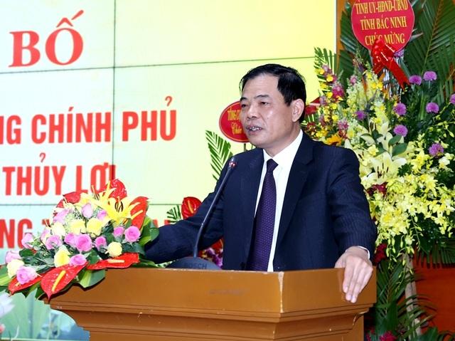 Bộ trưởng Nguyễn Xuân Cường phát biểu tại lễ công bố...