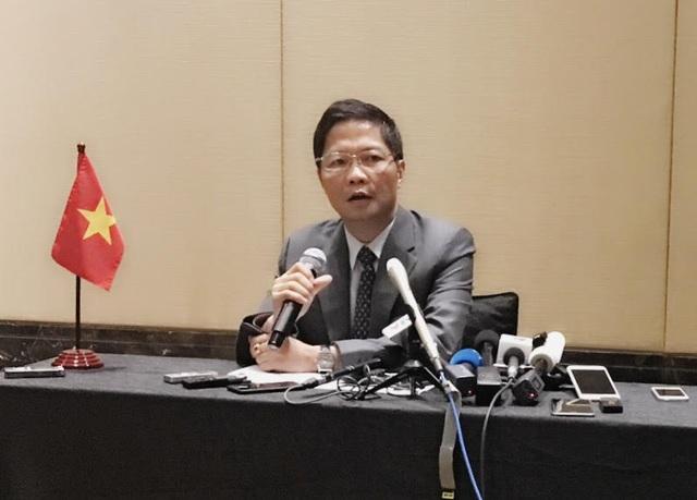 Bộ trưởng Bộ Công Thương Việt Nam Trần Tuấn Anh tham gia nhóm họp các Bộ trưởng TPP, sáng 21/5.