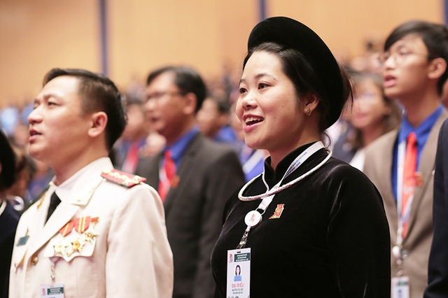 Nữ đại biểu Nguyễn Thị Huế của Tỉnh đoàn Bắc Kạn là người dân tộc Tày.