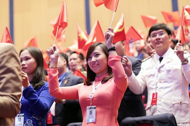 Nữ đại biểu Lê Thị Ngọc Uyên của Thành đoàn Thành phố Hồ Chí Minh