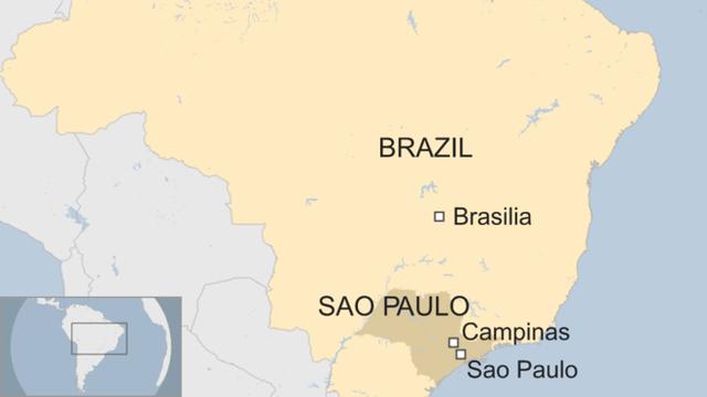 Vụ xả súng xảy ra tại thành phố Campinas, cách Sao Paulo khoảng 100km (Ảnh: BBC)