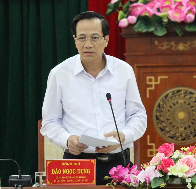 Bộ trưởng Bộ LĐ-TB&XH Đào Ngọc Dung quan tâm đến vấn đề đào tạo nghề cho lao động nông thôn
