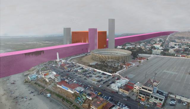 """Các nhà kiến trúc sư người Mexico đã dựa trên những dự kiến và thông số ban đầu để thiết kế ra """"bức tường hồng"""" theo như ý định của ông Donald Trump. (Ảnh minh họa: Getty)"""