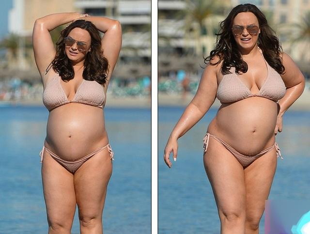 Chanelle Hayes tăng cân nhiều sau khi sinh đứa con đầu lòng và ở lần thứ 2 bầu bí, người đẹp không khỏe