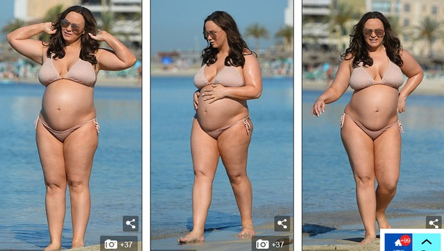 Cựu người mẫu Anh thừa nhận cô tăng cân quá nhiều và cảm thấy mình to như một chú cá voi
