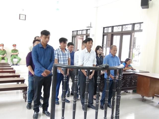 Các bị cáo tại phiên xét xử phúc thẩm