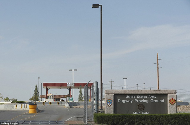 Cổng chính vào căn cứ Căn cứ Dugway Proving Ground
