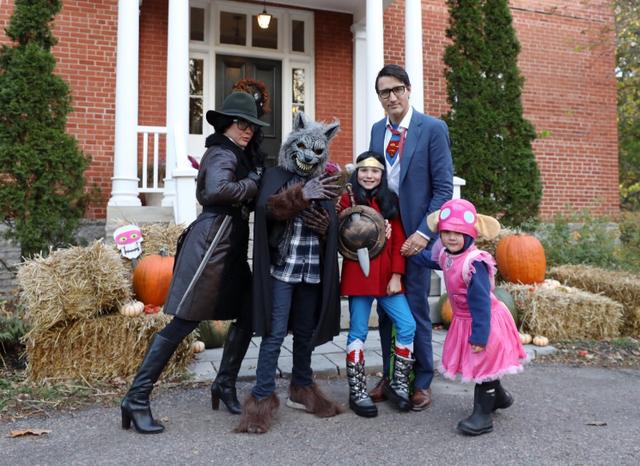 Gia đình Thủ tướng Justin Trudeau hóa trang thành các nhân vật đặc biệt trong dịp lễ Halloween (Ảnh: Trudeau Instagram)