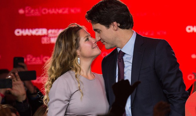 Thủ tướng Canada và phu nhân Sophie Grégoire (Ảnh: Getty)