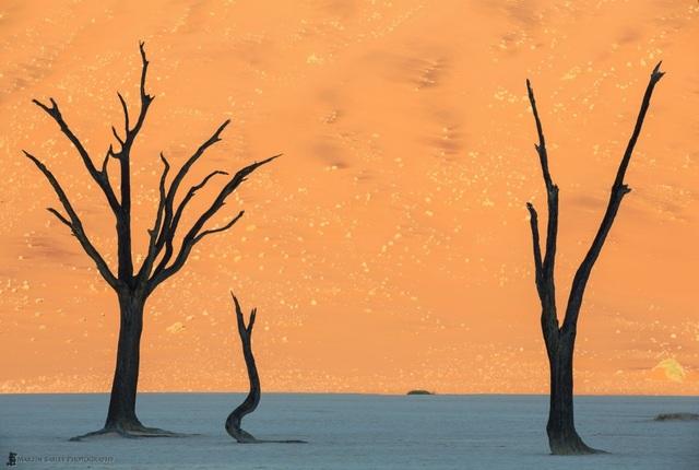 """Có lẽ những fan của seri phim """"Chiến tranh giữa các vì sao"""" sẽ cảm thấy hết sức quen thuộc với khung cảnh được chụp tại sa mạc Namibia này."""
