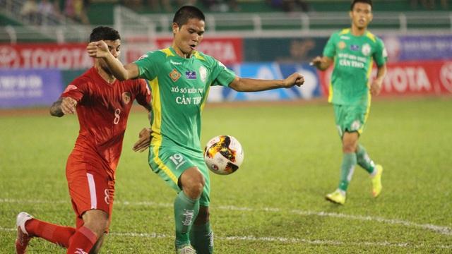 ... Cần Thơ giành điểm quan trọng trước SHB Đà Nẵng ở vòng 13 V-League (ảnh: Trọng Vũ)