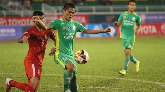 Cần Thơ đã gần hoàn thành mục tiêu trụ hạng tại V-League (ảnh: T.V)