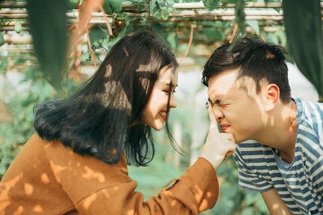 Hình ảnh đáng yêu của cặo đôi Hoàng Cương - Quỳnh Như.