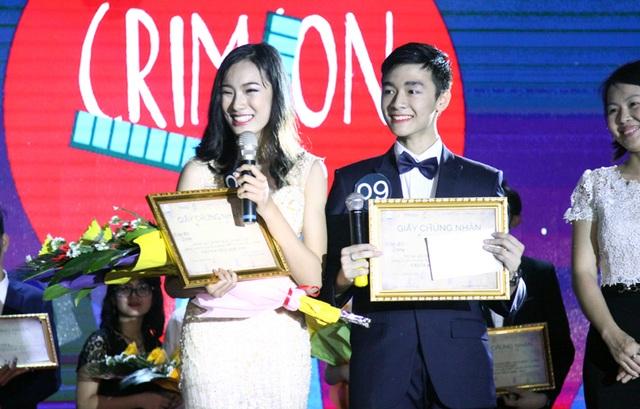Thanh Tâm gửi lời cảm ơn những cổ động viên của mình khi giành vị trí cao nhất của cuộc thi