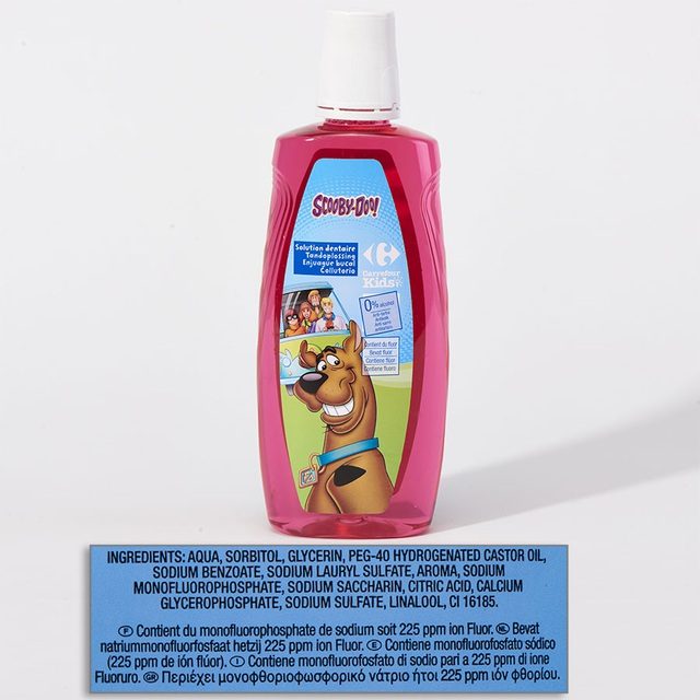 Nước súc miệng trẻ em Carrefour Kid chứa Sodium lauryl sulfate