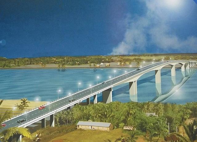 Mô hình cầu vượt sông Văn Úc (Hải Phòng)