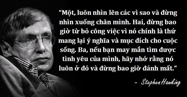 Những câu nói để đời của thiên tài vật lý Stephen Hawking - 2