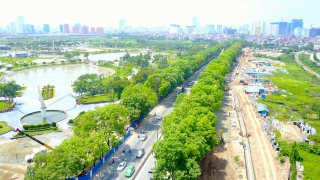 Dự kiến kế hoạch thi công tuyến đường này sẽ phải đánh chuyển, di dời và chặt hạ hơn 1.300 cây xanh trước ngày 30/9.