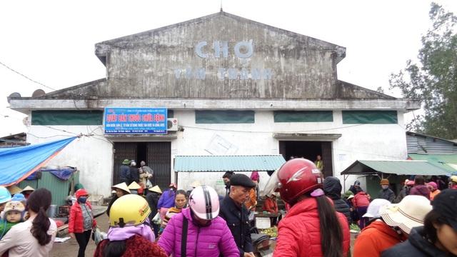 Chợ Tân Thành nơi xảy ra vụ hỏa hoạn vào lúc sáng sớm.