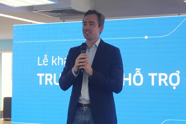 Ông Tom White, Giám đốc Điều hành Uber Việt Nam. (Ảnh: Hồng Vân)